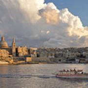 Valetta Skyline, Malta. Art Print