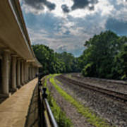 Valley Forge Train Station  Art Print