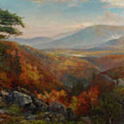 Valley Of The Catawissa In Autumn Art Print