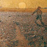 Van Gogh: Sower, 1888 Art Print