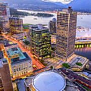 View Of Vancouver At Dusk. Art Print