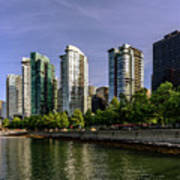 Waterfront Of Vancouver, Canada Art Print