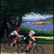Vancouver Bike Ride Poster Art Print