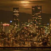 Vancouver's Supermoon Art Print