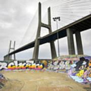 Vasco Da Gama Bridge Art Print