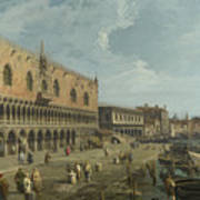 Venice   The Doges Palace And The Riva Degli Schiavoni Art Print