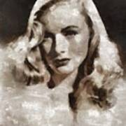 Veronica Lake Vintage Hollywood Actress Art Print