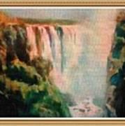 Victoria Waterfalls L B With Alt. Decorative Ornate Printed Frame. Art Print