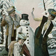 Victorian Christmas Card Art Print