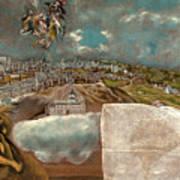 View And Plan Of Toledo Art Print