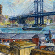 View From Brooklyn Bridge Art Print