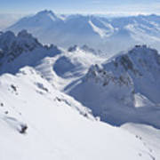 View From Summit Of Valluga, St Saint Anton Am Arlberg Austria Art Print