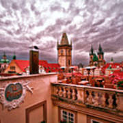 View From The Top In Prague Art Print