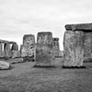 View Of Circle Of Sarsen Trilithon Stones At Side Opposite The Avenue Stonehenge Wiltshire England U Art Print