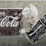 Vintage 1916 Hand Painted Coca Cola Sign Art Print