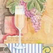 Vintage Champagne Art Print