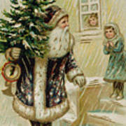 Vintage Christmas Card Art Print
