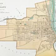 Vintage Map Of Albany Ny Drawing by CartographyAssociates
