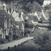 Vintage Photo Effect Medieval Arlington Row In Cotswolds Country Art Print