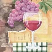 Vintage Pinot Noir Art Print