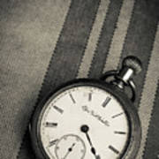 Vintage Pocket Watch Art Print