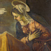 Virgin From The Annunciation To The Virgin Art Print