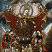 Virgin Of Carmel Saving Souls In Purgatory Art Print