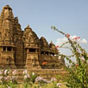 Vishvanatha Temple In Khajuraho Art Print