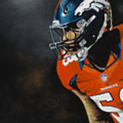 Von Miller Art Print by Don Medina