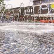 Wakefield City Centre Fountain Art Print