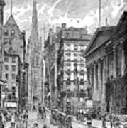 Wall Street, 1889 - To License For Professional Use Visit Granger.com Art Print