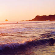 Warm Sunset In Zipolite 3 Art Print