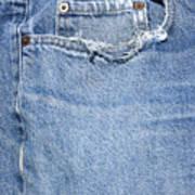 Worn Jeans Art Print