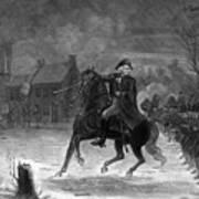 Washington At The Battle Of Trenton Art Print