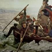 Washington Crossing The Delaware River Art Print by Emanuel Gottlieb Leutze