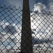 Washington Monument Through Fence Art Print