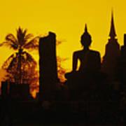 Wat Mahathat Art Print