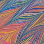 Water Marbling Art ,ebru Art Print
