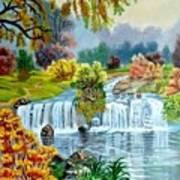 Waterfall After Monsoon Art Print