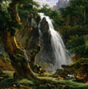 Waterfall At Mont-dore Art Print