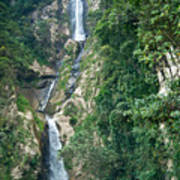 Waterfall Highlands Of Guatemala 1 Art Print