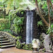 waterfall in tripcal garden Monte Madeira Art Print