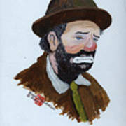 Weary Willie The Clown Art Print
