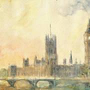 Westminster Palace And Big Ben London Art Print