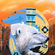 White Bear Goes Southwest Art Print
