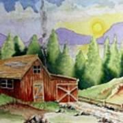 Wilderness Cabin Art Print