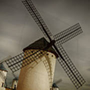 Windmills At Campo De Criptana Art Print