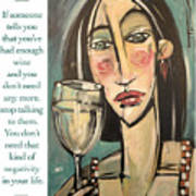 Wine Negativity Poster Art Print