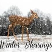 Winter Blessings Art Print