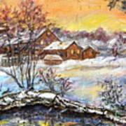 Winter Evening. Art Print